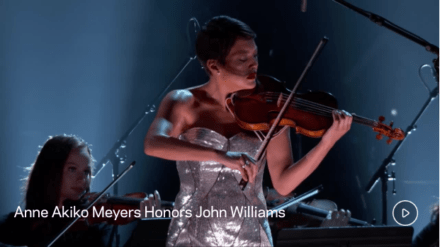 Anne Akiko Meyers honors John Williams